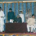 Taking Oath as Finance Minister of Maharashtra